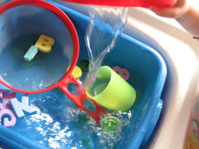 zabawa wodą