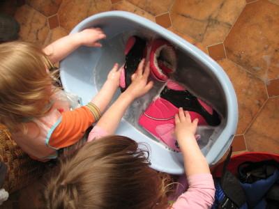pranie butów