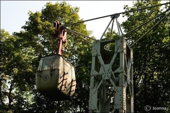 zabytkowy wagonik kolei linowej