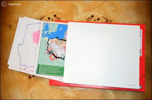 kieszeń na mapy - lapbook