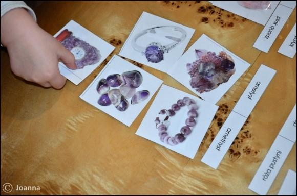 minerały - dopasowanka