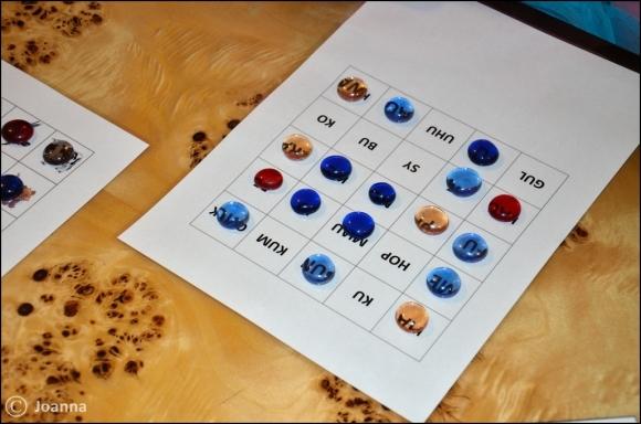 bingo - plansza ze słowami
