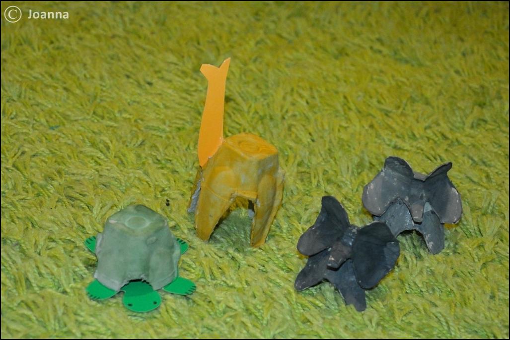 Afryka - zwierzęta z wytłoczek do jaj