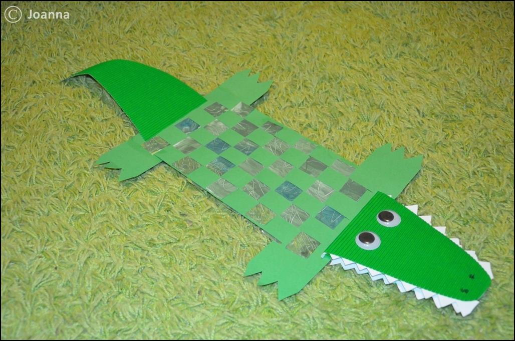 pleciony krokodyl