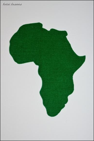 Afryka z filcu, montessori
