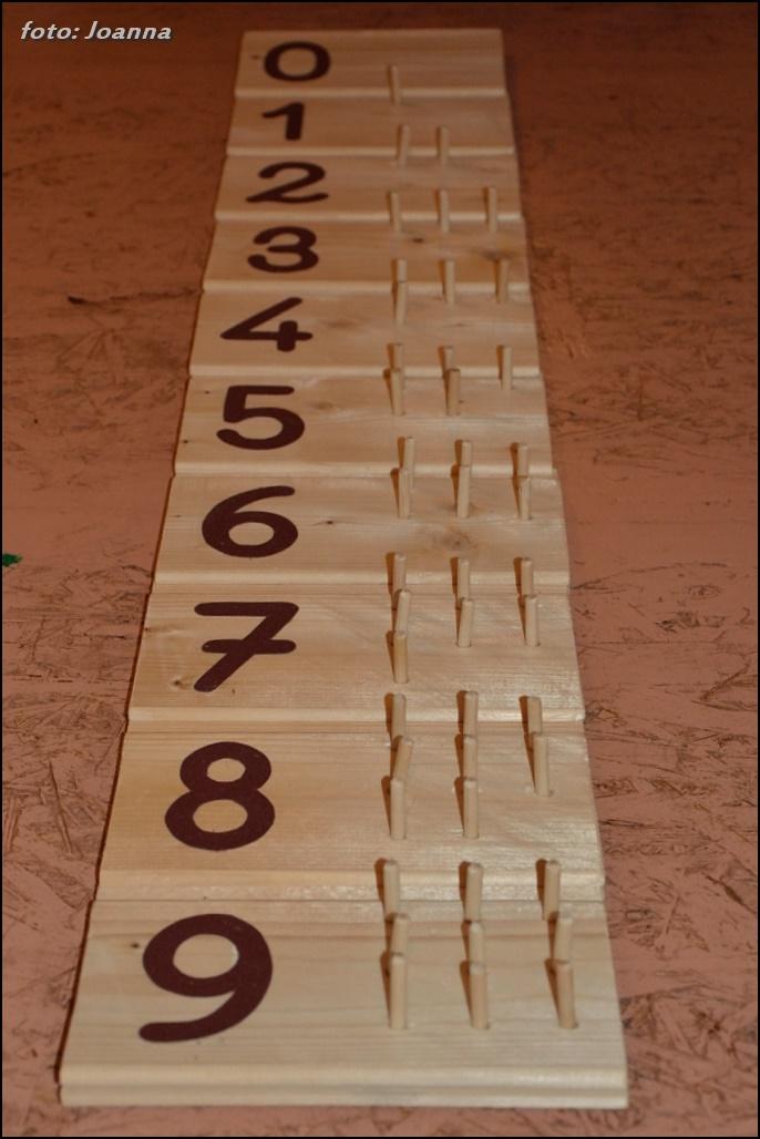 komplet, tabliczki matematyczne - montessori
