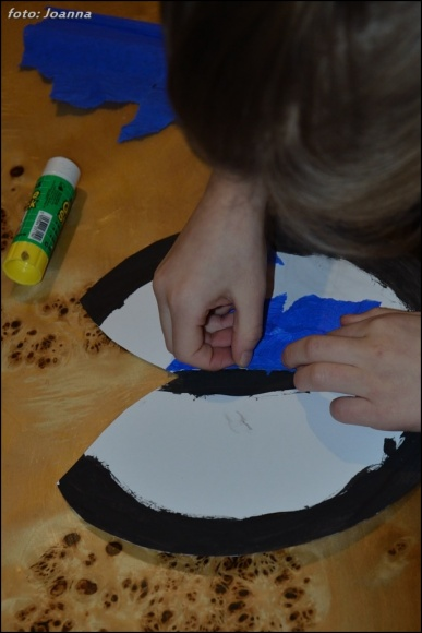 morpho z kartonu i bibuły