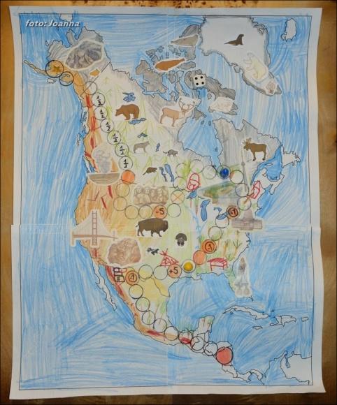 Ameryka Północna - gra planszowa