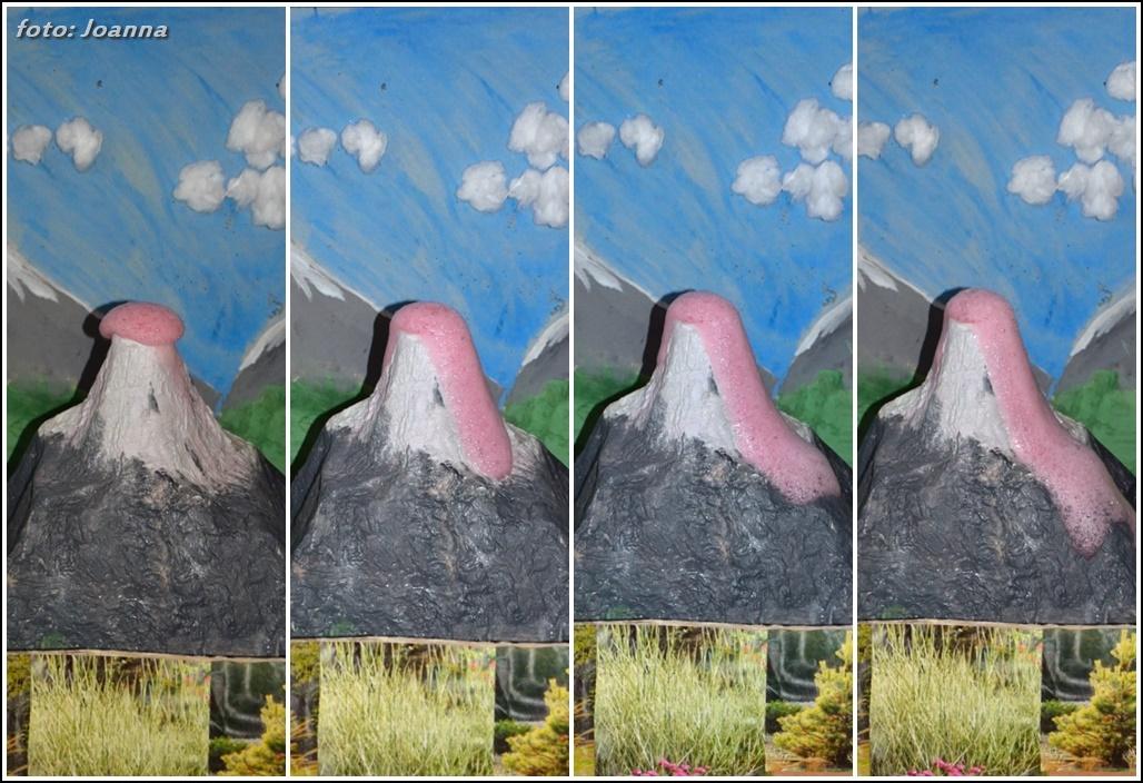 """erupcja"" wulkanu z octu i sody"