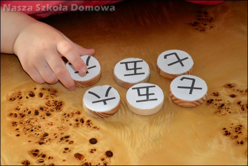 chińskie znaki, odtwarzanie sekwencji