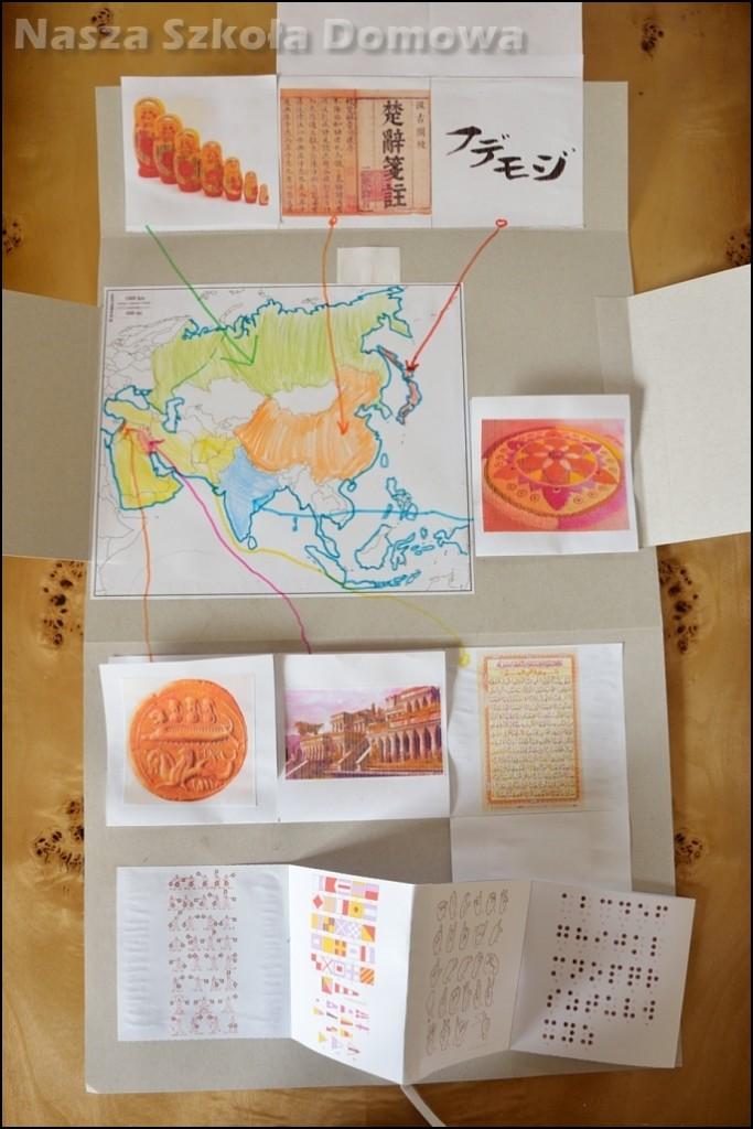 Języki Azji, lapbook