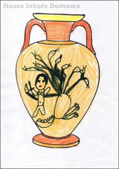 Waza grecka - Herakles walczący z hydrą