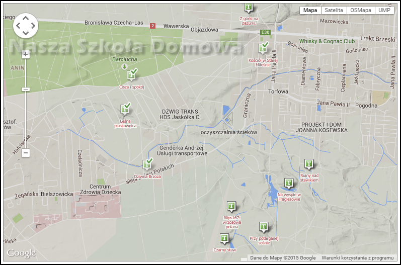 mapa - geocaching