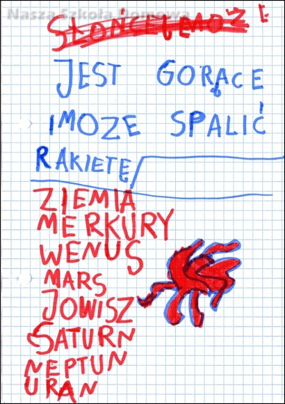 nazwy planet - pisanie