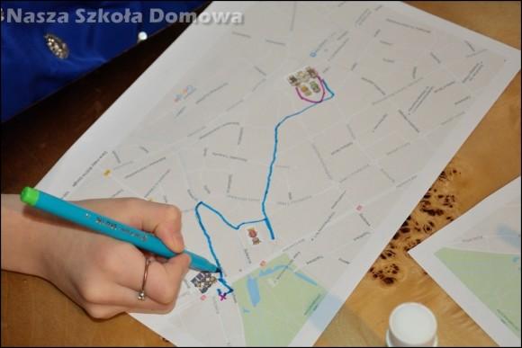 trasa na planie miasta
