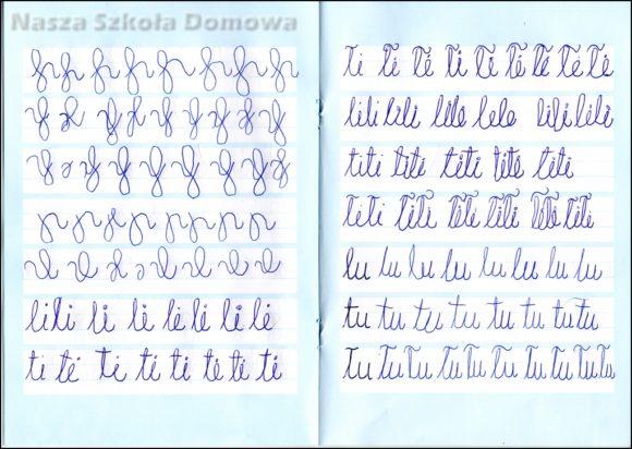Metoda płynnego ruchu - łączenie liter