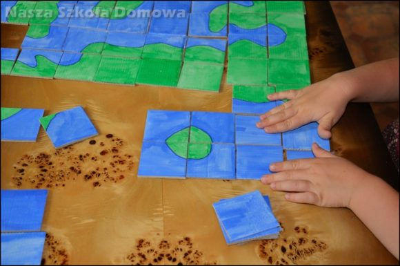 formy lądu i wody - układanka