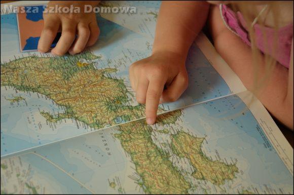 formy lądu i wody - praca z mapą