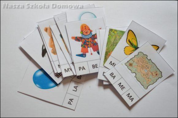 czytanie sylabowe - clipcards