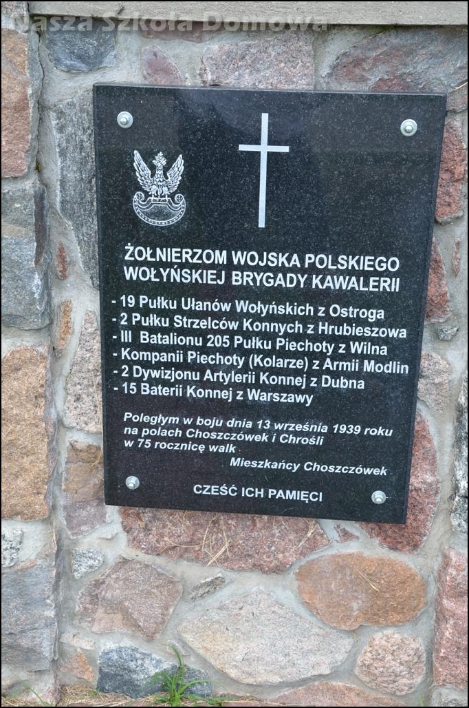 Kaplica w Choszczówce - tablica