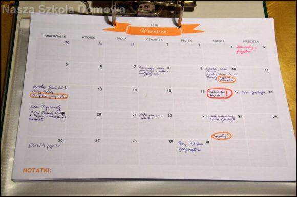 plan miesiąca