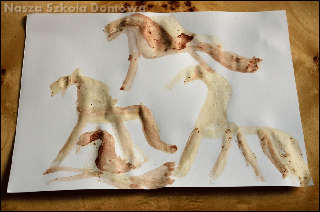 malowanie bez farb - konie