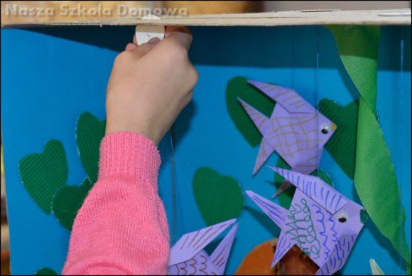 akwarium z rybkami origami