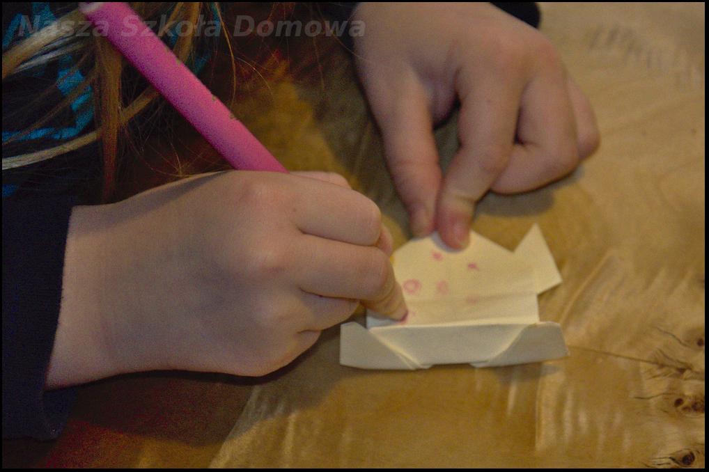 żaba origami