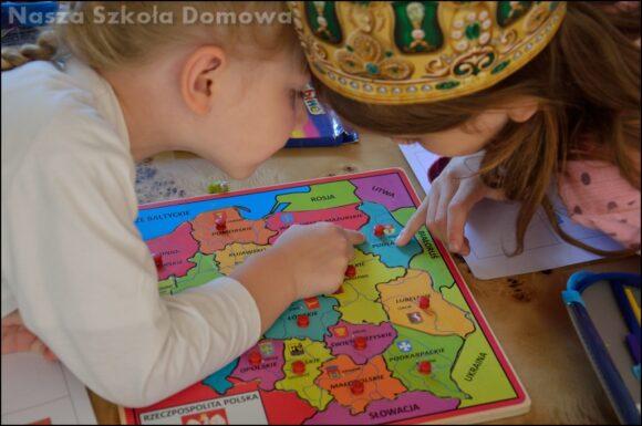 mapa Polski dla dzieci, puzzle