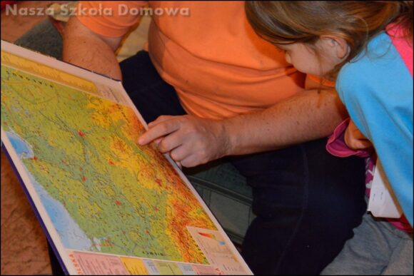 fizyczna mapa Polski - Góry
