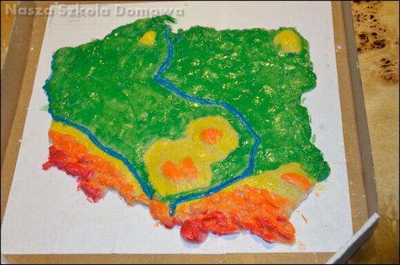 mapa Polski z masy solnej