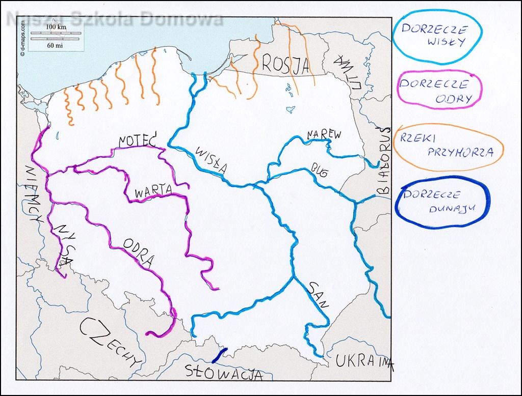 Polska - dorzecza