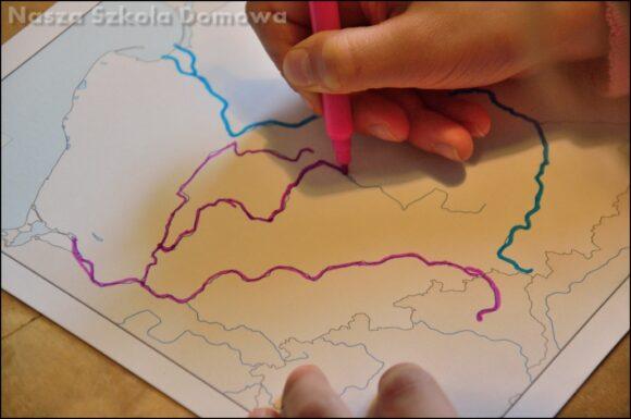 Mapa Polski - rzeki