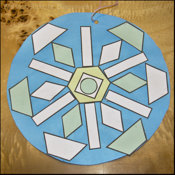 geometryczna śnieżynka 4