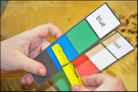 kolory po angielsku - clip card