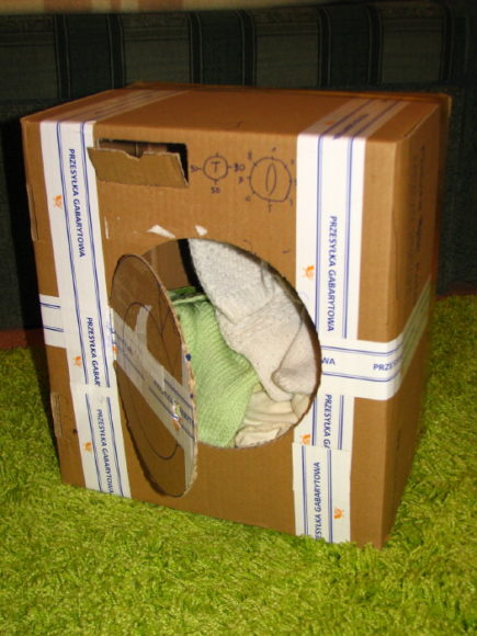 pralka z pudełka