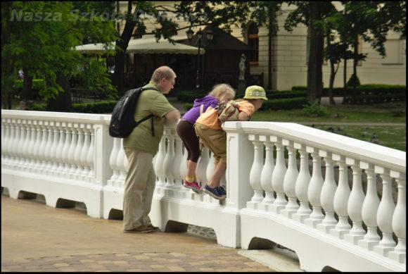 na nowym mostku w parku