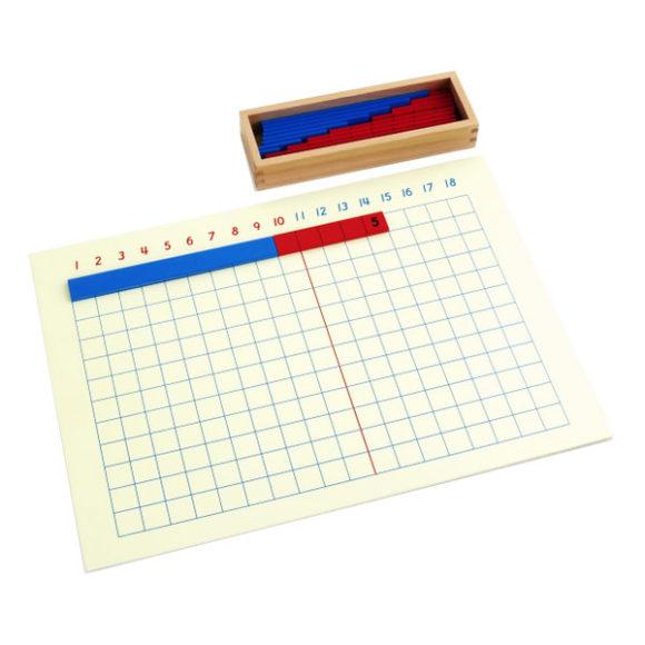 montessori tablica do nauki dodawania