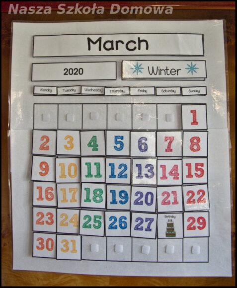 wieczny kalendarz - marzec