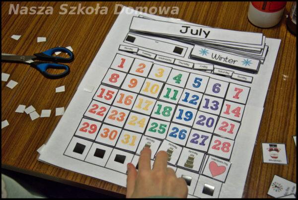 Kalendarz po angielsku