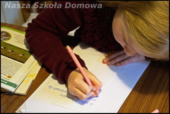 Lusia pisze notatkę