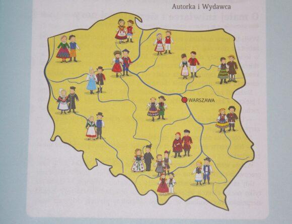 regiony Polski - mapa