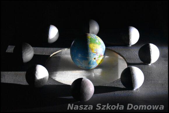 model faz Księżyca - zaćmienie