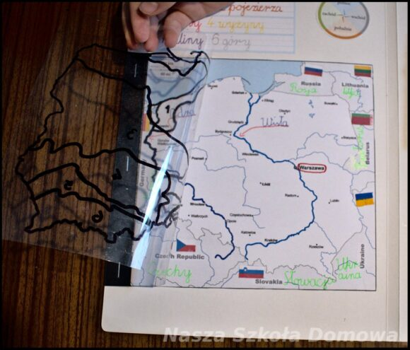 mapa Polski - nakłądka