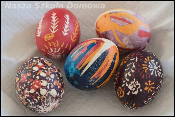 Nasze pisanki zdobione woskiem i barwnikami